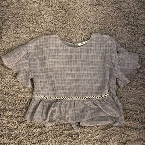 impeccable pig grey top